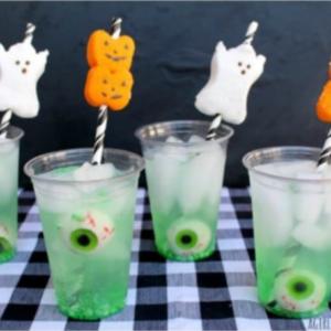 decoracion con dulces de halloween